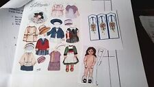 Dollhouse Artisan Miniature Hoeltge Antique Bleuette Style Paper Doll Kit Outfit