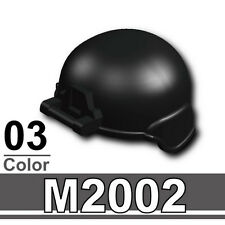 M2002 (W127) Advanced Army Assault helmet compatible with toy brick minifigures