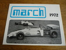 MARCH RACING CAR BROCHURE FOR 1972