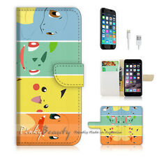 "iPhone 6 (4.7"") Print Flip Wallet Case Cover! Pokemon Pikachu P0022"