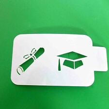Graduation Stencil   Cakes and Cupcakes    Cake Decorating Air Brushing