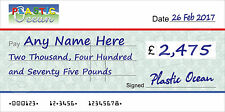 LARGE PERSONALISED COMPANY CHEQUE for Charity / Presentation