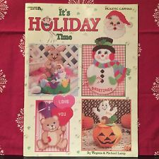 LEISURE ARTS IT'S HOLIDAY TIME PLASTIC CANVAS LEAFLET # 1885 FREE SHIPPING