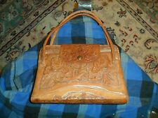 Vintage MITLA Western Embossed Leather Purse Made In Mexico