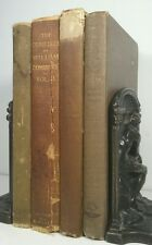1885~Antique Brown 4 Distressed Book Lot~Decorative Set~EMILY DICKENSON POEMS