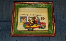 Shadows of Yesterday Tricky Motorcycle tin toy in shadowbox Toys in the Cupboard