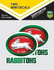 620009 SOUTH SYDNEY RABBITOHS NRL SET OF 2 MINI DECALS CAR STICKERS ITAG