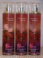 3 Bath & Body Works TWILIGHT WOODS Fine Fragrance Mist Spray