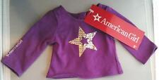 American Girl PURPLE SPARKLE STAR Doll TEE T-SHIRT ~Store Exclusive LTD ED ~ NEW