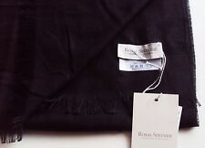 UNISEX SCARF ROYAL SPEYSIDE BLACK  SILK CASHMERE MADE SCOTLAND NEW TAGS 10 X 70