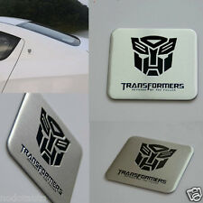Car Transformers Autobot Metal Aluminum Trunk Side Emblem Badge Sticker
