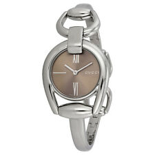 Gucci Horsebit Collection Brown Dial Stainless Steel Ladies Watch YA139501