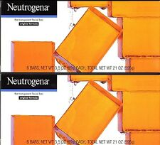 NEUTROGENA FACIAL CLEANSING BAR SOAP 12 PACK HYPO ALLERGENIC ORIGINAL FORMULA