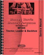 Massey Ferguson 30E Tractor Loader Backhoe Service Manual