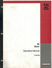 CASE IH 56 SQUARE  BALER OPERATOR'S  MANUAL