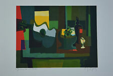"Marcel Mouly ""Grand Guitare et Compotier""  Signed  Numbered Lithograph  + COA"