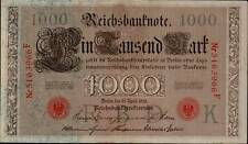 1910 German Empire Huge 1000 Mark Banknote RED SEAL P-44b