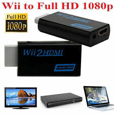 HD Wii To HDMI 1080P Upscaling Converter Adapter With 3.5mm Audio Output