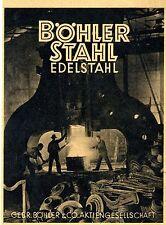 Gebr. Böhler & Co. AG Düsseldorf EDELSTAHL Historische Reklame von 1941