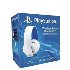 Sony Playstation Wireless Stereo Headset Headphones 2.0 PS3 PS4 VITA - White UK