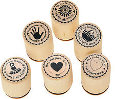 Stempelset 6-teilig, Stempel Handmade, Stempel-Set Made with Love