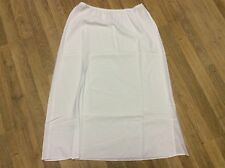 Women Satin  Long Slip Hollow Out Underskirt A Line Petticoat Safety Skirt