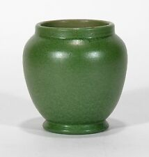 William J Walley hand thrown art pottery vase matte green arts & crafts WJW