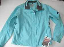 Cloudveil Women's Large Madison Shell Jacket in the color maui (turquoise blue)