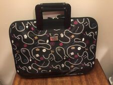 Nicole Miller Women's Black Padded Laptop Case Bag Sleeve With Handles NEW
