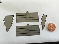 Custom Shazam Decals 002 Silver 1/6 Scale Decals Free Shipping! Die Cut!