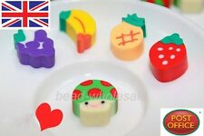 50Pcs Novelty Fruit Rubber Pencil Eraser Set Stationery Kid Children Gift Toy