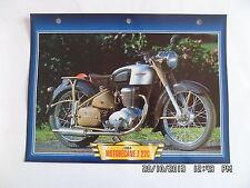 CARTE FICHE MOTO MOTOBECANE Z 22C 1954