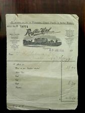 RARE 1930 SARKIES  RAFFLES HOTEL INVOICE & 4 VINTAGE RAFFLES LABELS & 1 POSTCARD