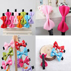 12Pcs Cloth/Organza Bow Hair Clips Cute Satin Bowknots Girls Hair Accessories