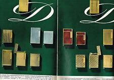 PUBLICITE ADVERTISING 094  1965   DUPONT   toute la gamme de briquets  ( 2 pages
