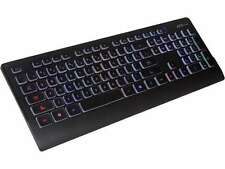 AZIO PRISM KB507 Black USB Keyboard With 7 Colorful Backlights