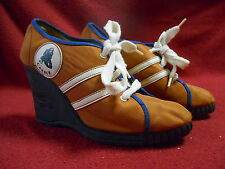 AWESOME VINTAGE CARBER 1960'S-70'S  MOD,HIPPIE HEELED SHOES, FUNKY,HIP,SEXY,COOL