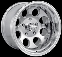 "CPP ION Alloys style 171 Wheels Rims 15x10, 5x5"" Polished Aluminum"