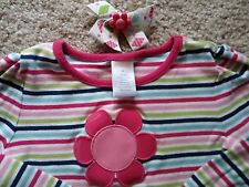 GYMBOREE GIRLS SMART AND SWEET SHIRT AND HAIR CLIP LNC SIZE 4T