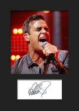 ROBBIE WILLIAMS #2 Signed Photo Print A5 Mounted Photo Print - FREE DELIVERY