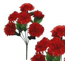 Lot of 144 Red Poly Silk Carnations Wedding Home Decor Craft Bouquet Flower