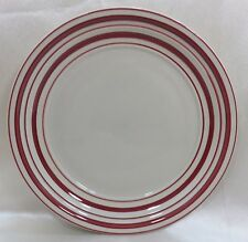 Gibson Everyday Dinner Plate Cream with Red Rings