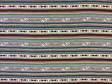 SALVADOR MULTI B12 STRIPED NATIVE AMERICAN CURTAINS BLINDS DRESSMAKING FABRIC