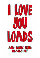 Personalised Funny Rude Fit Valentine Card Large A5