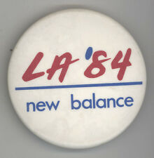 Rare 1984 SUMMER OLYMPICS New Balance PINBACK Button LOS ANGELES Badge PIN LA