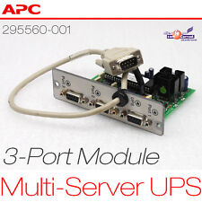 APC UPS 3-PUERTOS MULTI SERVER MÓDULO R6000 295560-001 124060 3x RS-232 SERIAL