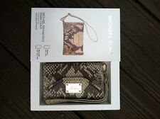Michael Kors iPhone 4S Wallet Wristlet Case In Natural Tan Python Leather