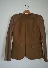 NEIL BARRETT Women Blazer Lamb Leather Virgin Wool Brown Cafe Au Lait Size 42 it
