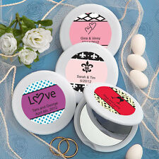 60 - Personalized Mirror Compact Wedding Favors - Free US Shipping