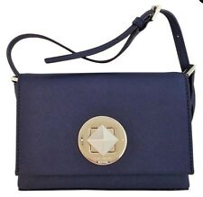NWT Kate Spade Sally Mini Crossbody Bag Purse In Navy Blue Saffiano Leather
